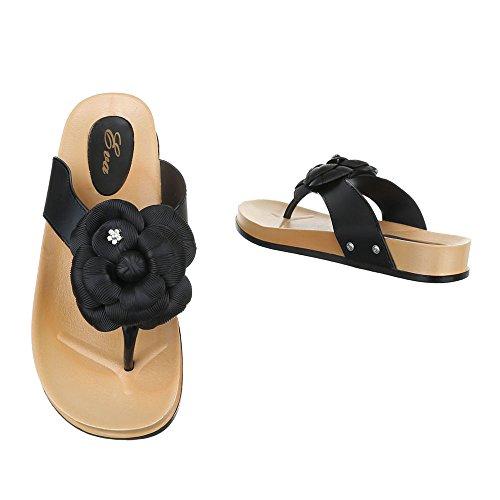 Zapatos Ital Mujer con negro tacón Design RnqqgCwP