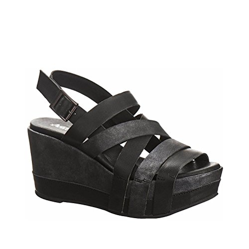Antelope Women's 847 Black Leather Multi Strap Sandals 40 by Antelope