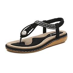 2c1e37e1c0651b Women s Flat Sandals Summer Clip Toe Flip Flops Thongs Wedge .
