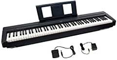 Includes P45 Digital Piano, power adapter, sustain pedal and music rest 88 fully weighted piano-style keys simulate the feel of an acoustic piano and provide a quality playing experience Contains 10 different voices, including digitally sampl...