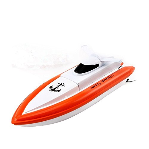 KingPow Remote Control Boat Only Works In Water Rc Boat- Orange(Not Any Responds On the Land)