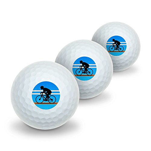 Road Bike Cycling Biking Bicycle Novelty Golf Balls 3 Pack by Graphics and More