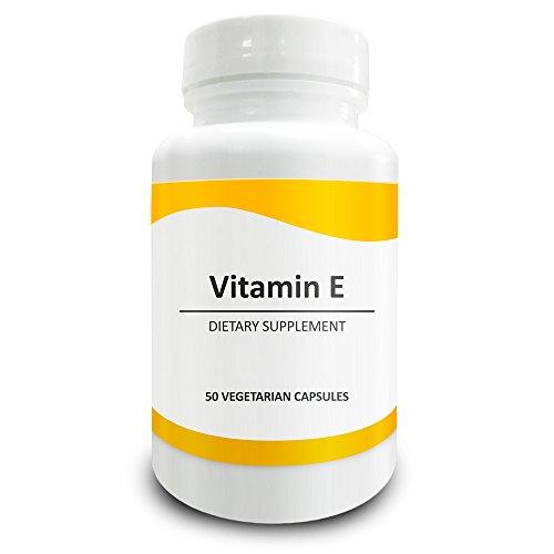 Pure Science Vitamin E (D-Alpha Tocopherol Succinate) 400 IU – Increases Antioxidant Level & Immunity, Balances Cholesterol Level, Promotes Healthy Skin & Hair – 50 Vegetarian Vitamin E Capsules Vitamin E 400 Iu Moisturizing Vitamins