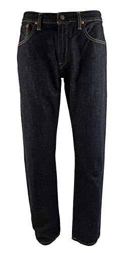 Lauren Straight Leg Jeans (Polo Ralph Lauren Men's Hampton Straight Fit Rinse Washed Jeans (32X32, Dark Rinse))