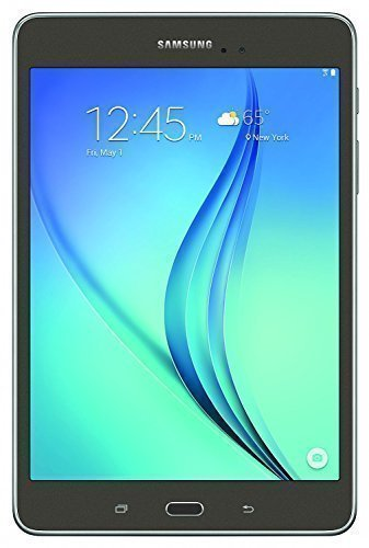 Samsung Galaxy Tab A SM-T550 9.7-Inch Tablet (32 GB, SMOKY-Titanium) W/ Book Cover (Certified Refurbished)