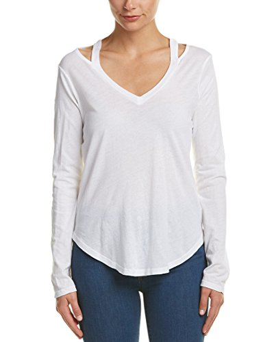 Splendid Women's Ls Vneck Top, Paper, XS