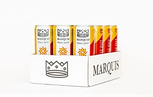 Marquis Energy Drink, Mango Ginger(12oz Can, 12Pk)
