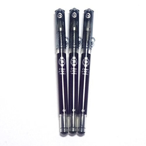 Pilot Hi-Tec-C Maica Gel Ink Pen Black, 0.4 mm, 3 pens per Pack (Japan import) [Komainu-Dou Original Package]