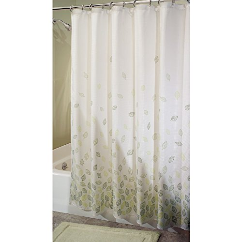 iDesign Verde Fabric Shower Curtain for Master, Guest, Kids', College Dorm Bathroom, 72