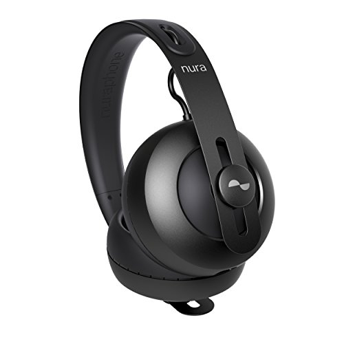 nuraphone — Wireless Bluetooth Over Ear Headphones with Earbuds, Creates Personalized Sound, Active Noise Cancellation (ANC), Social Mode, Multi-tap Buttons, 20 Hour Battery Life