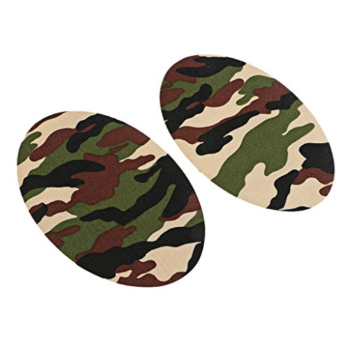 (2Pc Iron-on Elbow Knee Repair Decorative Patches Sewing Applique for Clothes   Color - Camouflage)