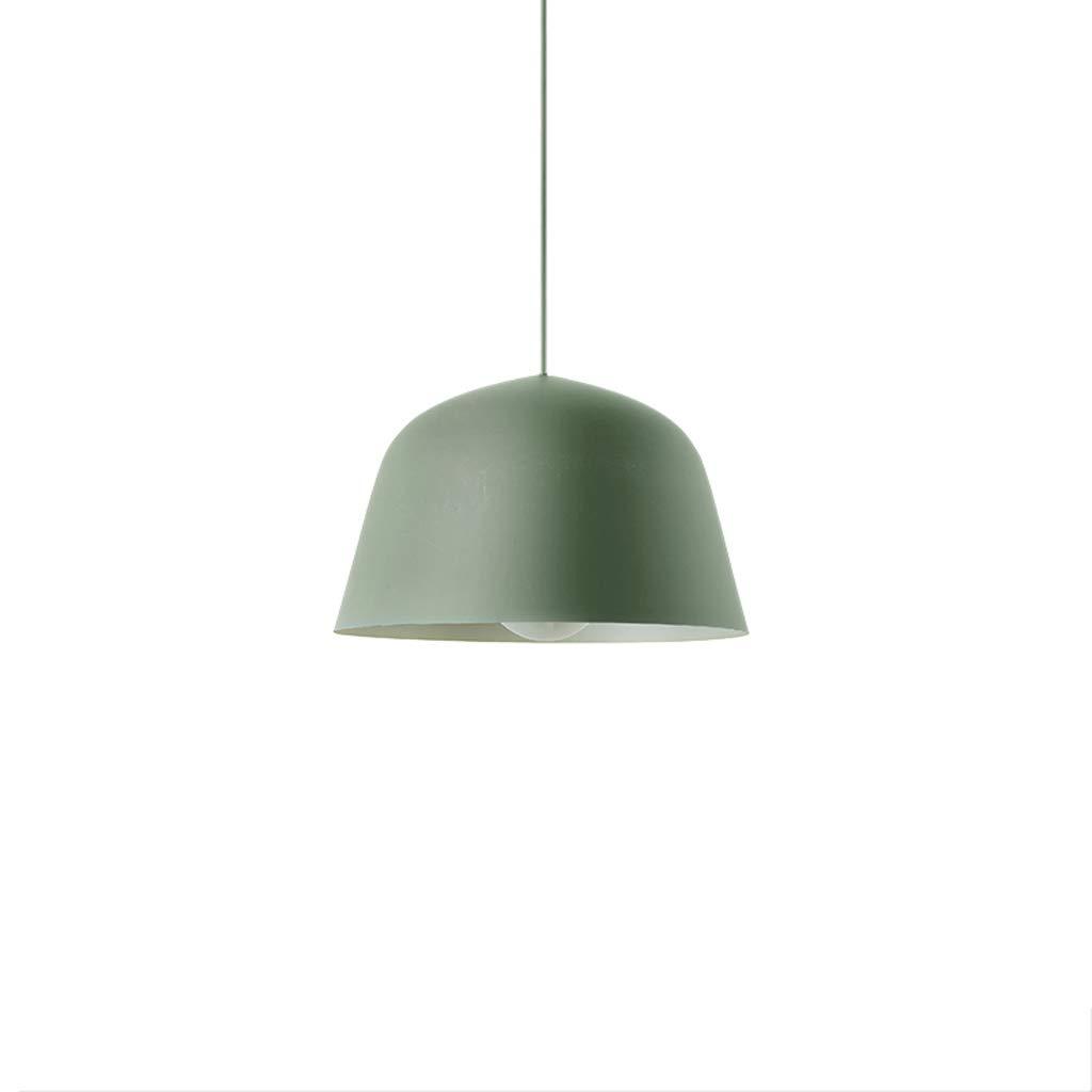 Farbe Schmiedeeisen Einzelkopf Kronleuchter, einfache moderne Bar Restaurant Wohnzimmer Schmiedeeisen Topf Kronleuchter (Farbe   Grün-L)