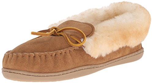 Minnetonka Women's Alpine Sheepskin Moc, Golden Tan, 6