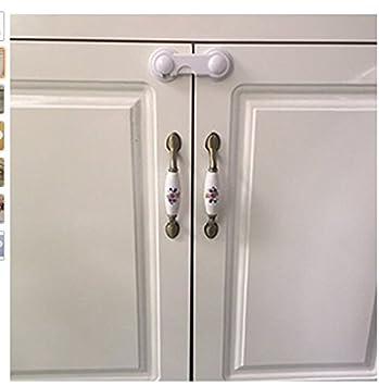 Hemore Baby Products - 2 cerraduras para armario de seguridad para bebés y niños: Amazon.es: Bebé