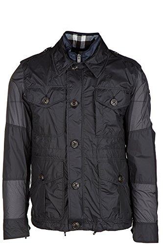 Burberry men's Nylon outerwear jacket blouson emmetson grey US size 52 (US 42) 40440251 - Burberry Coat Men