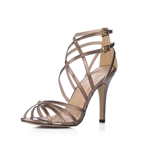 shoes Gold high gold summer shoes evening fine temperament Sandals fine banquet heel women with female new n0qZx1TwfS