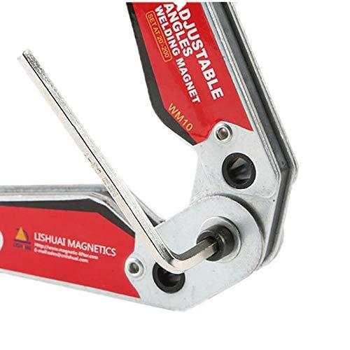 TOOGOO WM10 Adjustable Magnetic Neodymium Welding Positioner Locator Tools With Wrench Welding Fixed Fixture Welding Magnet Holder