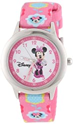 Disney Kids' W000036 Minnie Mouse Time Teacher Stainless Steel Watch