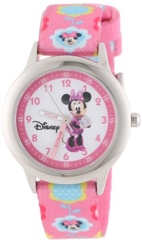 (Disney Kids' W000036 Minnie Mouse Time Teacher Stainless Steel Watch )