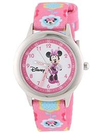 Disney Kids' W000036 Minnie Mouse Stainless Steel Time Teacher Watch