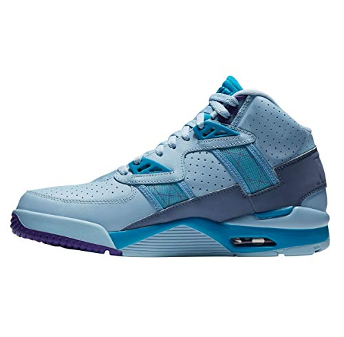 Nike Air Trainer SC High Leche Blue/White-Neo Turquoise (9.5 D(M) US) (Nike Sc Trainer High)