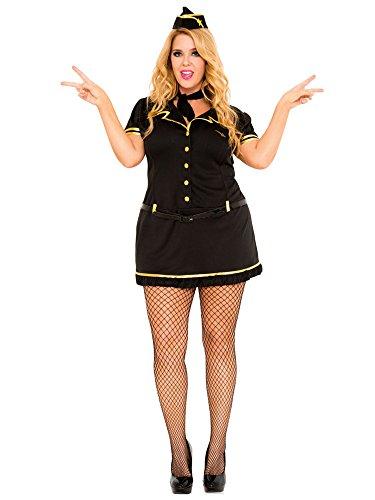 Mile High Club Stewardess Adult Costume - Plus Size 1X/2X