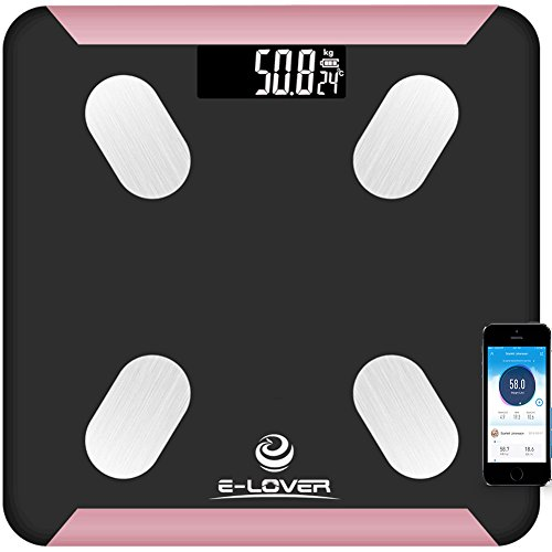Digital Scale Weights, Bluetooth Body Fat Scale with 12 Health Indicator, Smart Weight Scale/Bathroom Scales with Free App as Home Gifts, Max 396lbs ()