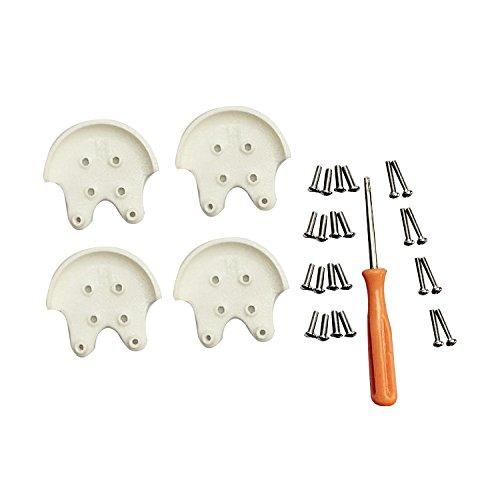 Screws White Standard (INSMOT 3D Printed Protector Reinforcement Kit Motor Mount Base for DJI Phantom 3 Professional / Advanced / Standard - White)