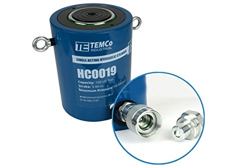 TEMCo HC0019 - Hydraulic Cylinder Ram Single Acting 100 TON 4