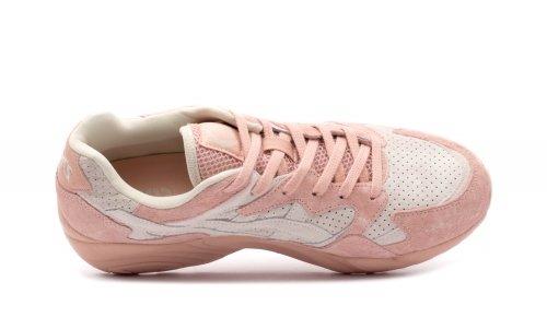 Asics Chaussures de Sport Gel Diablo Unisexe Rose/Blanc Taille 42.5