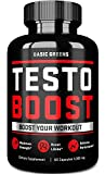 Testosterone Booster for Men - Test Booster Supplements for Men Natural Boosting Formula Develop Powerful Muscles, Energy, Endurance, Recovery, and Lean Muscle, (60 Gel Capsules) by BASIC GREENS