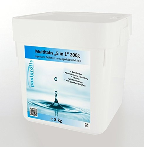 5 kg Chlor Multitabs 5 in 1 200g Chlortabletten inkl. Klareffekt energieprofis