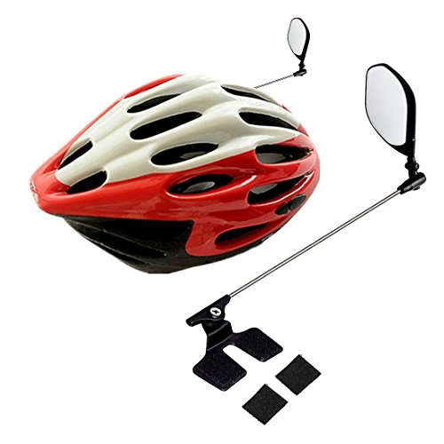 WOVTE 360°Rotated Adjustable Bike Helmet Rear View Mirror Safe Riding for Adults & Kids