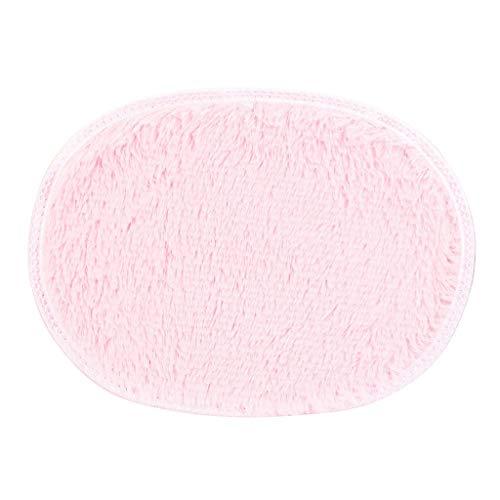 MIS1950s Newest Home Bedroom Doormat Solid Soft Floor Mats Non-Slip Carpets Area Rugs (Pink)