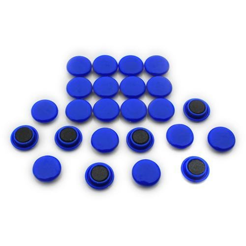 Magnet Expert® Small Planning & Notice Board Magnets - Blue (1 Pack of 24) F4M20-BLUE-1