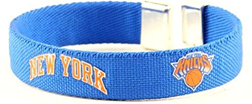 aminco NBA New York Knicks Ribbon Cuff BraceletRibbon Cuff Bracelet, Team Color, 4
