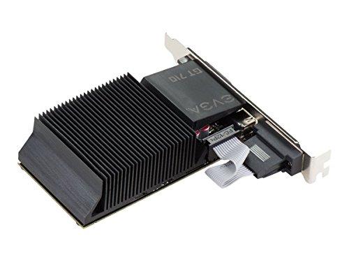 EVGA GT 710 2GB DDR3 64bit Dual Slot, Passive 02G-P3-2712-KR P3 Dual Card