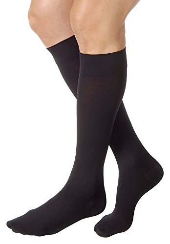 JOBST Relief 30-40 mmHg Compression Socks, Knee High, Closed Toe, Black, Medium ()
