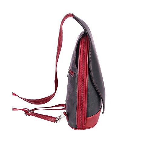 OBC Only-Beautiful-Couture - Bolso mochila  para mujer rojo rojo y negro ca.: 22x36x10 cm (BxHxT) rojo/negro
