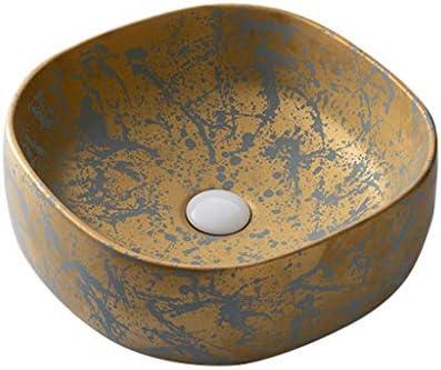 DS- バスルームの洗面台、洗面化粧台のホーム正方形のセラミック(タップ無し)カウンタ上流域浴室シンク技術流域単一流域、39X39X13cm 洗面ボール && (Size : 39X39X13cm)
