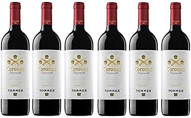 Coronas Crianza, Vino Tinto - 6 botellas de 75 cl, Total: 4500 ml: Amazon.es: Alimentación y bebidas