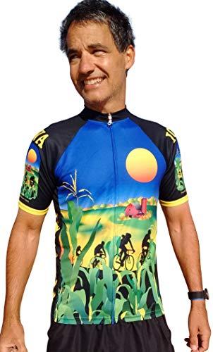 Free Spirit Wear Iowa Cycling Jersey Large (Iowa Jersey State Cycling)