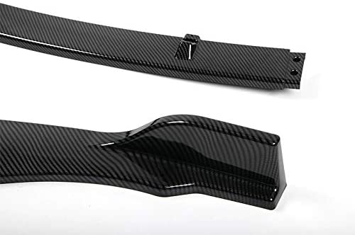 EPARTS 3 Pieces Style Carbon Fiber Look Front Bumper Lip Spoiler Splitter Side Body Kit Trim Protection Compatible with 2018 2019 2020 Toyota Camry
