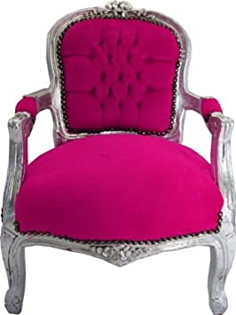 Casa Padrino Chaise Baroque Rose Argent