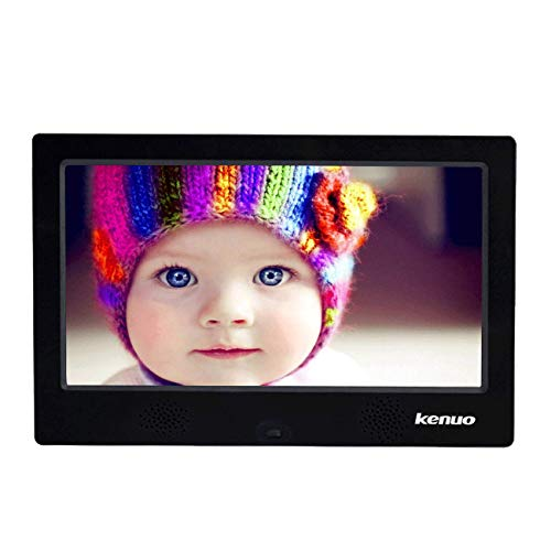 Advanced Digital Picture Photo Frame with High Resolution HD 1024×600(16:9) Eletronic Picture Frame with Video Player Stereo MP3 Calendar Auto On/Off Timer 10 inch-Black