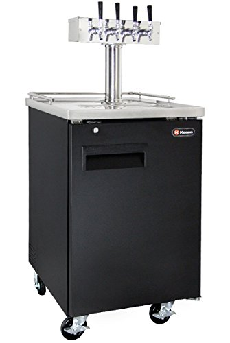Big Save! Kegco Commercial Grade Homebrew Kegerator Four Faucet Ball Lock Keg Dispenser Black
