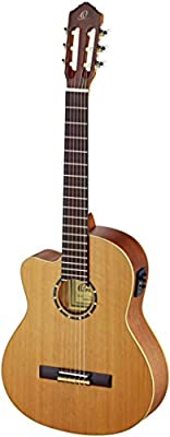 Ortega Guitars RCE131L Family Series Pro Left Handed Nylon 6-String Guitar with Cedar Top, Mahogany Body and Pickup