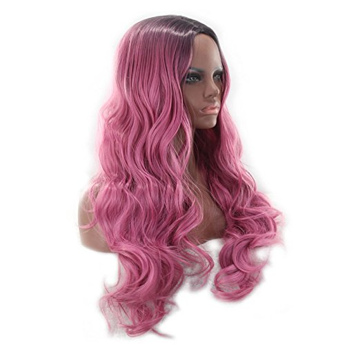 Amazon.com: C0229 - 28 Inch Long Wavy Wigs for Women Halloween Party Synthetic Hair Wigs: Home & Kitchen