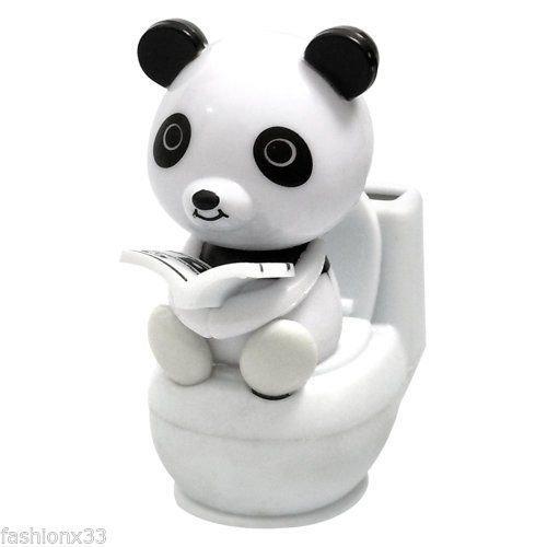 Solar Power Motion Toy - Panda on Toilet