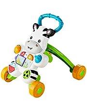 Fisher-Price Mon Trotteur Zèbre Parlant pour apprendre à marcher avec musique et activités d'éveil, pour bébé de 6 mois et plus, version française, DLD96